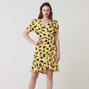 DVF Kelly floral crepe wrap dress size 8